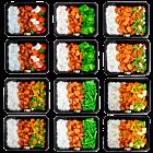 Basmati rice - chicken cayun - Vegetable pack (6x2)