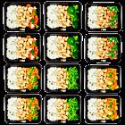 Basmati rice - chicken - vegetable pack (6x2)