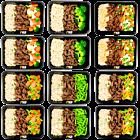 Brown rice - Beef Teriyaki - vegetable pack (6x2)