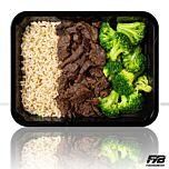 Zilvervliesrijst - Runderreepjes Teriyaki - Broccoli (met kruiden) - BULK