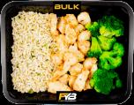 Zilvervliesrijst - Gebakken kipfiletblokjes - Broccoli (met kruiden) [BULK]