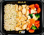 Zilvervliesrijst - Gebakken kipfiletblokjes - Broccolimix (met kruiden) [BULK]