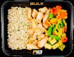 Zilvervliesrijst - Gebakken kipfiletblokjes - Wokmix (met kruiden) [BULK]