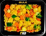 Zilvervliesrijst - Gebakken kipfilet blokjes - Broccolimix (Bombay Curry sauce) - BULK