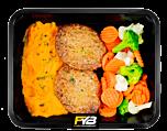 Zoete aardappel puree - Runderburger - Broccolimix (met kruiden) - BULK