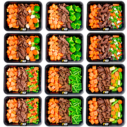 Sweet potato - Beef - Vegetables pack (6x2)